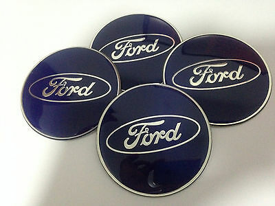 4PCS 56MM FORD Wheel Center Hub Caps Emblem Blue Badge Decals Stickers