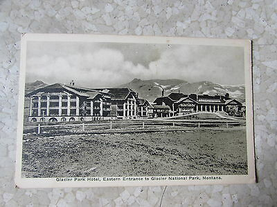 Vintage Glacier Park Hotel Eastern Ent. Montana Great Northern Railway Post Card