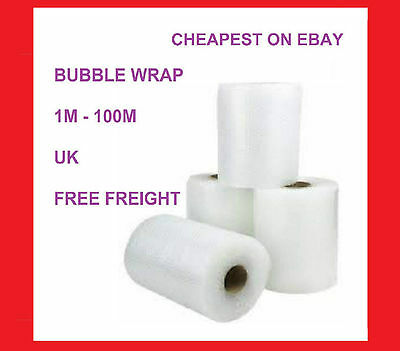 AIR BUBBLE WRAP ROLLS 300mm, 500mm, 750mm, 1000mm, 5m, 50m 100m PROTECT PACKING