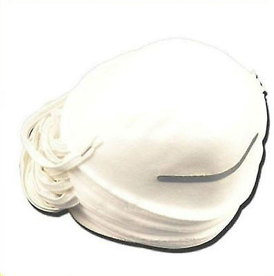 Disposable Face Cup Clean Safety Dust Masks Dirt Smoke Fumes 100