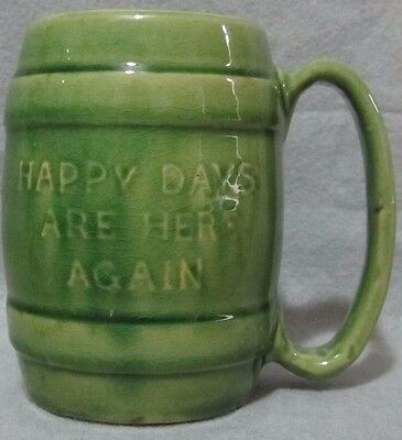 Fdr Happy Days Are Here Again Green Mug
