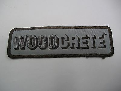 Woodcrete Embroidered Sew On Patch  Brown And Grey  Color