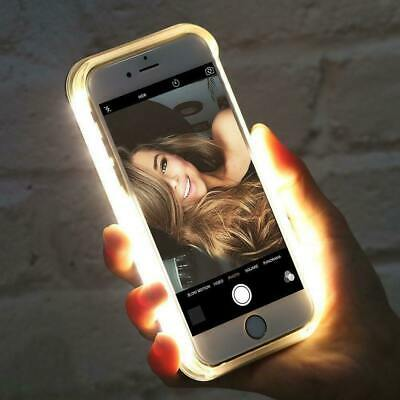 LUXURY LED Light Up Selfie LUMINOUS Phone Case Cover For Apple iPhone Models