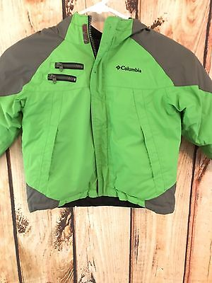 Columbia Boy's 4t Reversible Green and Black Hooded Winter/Snow Jacket
