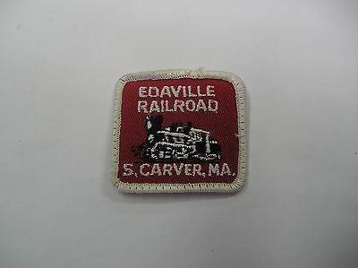 Edaville Railroad S,carver,ma Embroidered Sew On Patch White/red/black  Color