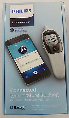 NEW Philips Connected Digital Ear Thermometer, quick,accurate measurements,White