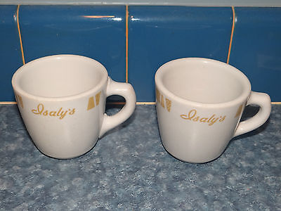 2 Vintage Isaly's Restaurant Cups - Mugs Sterling China