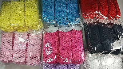 Wholesale 50 pcs Crochet Headband With 1.5 inch Acrylic