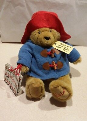 Hamleys Paddington Bear Tags Shopping Bag Plush Teddy Stuffed Animal