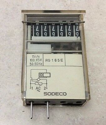 Sodeco RG165E 6 Digit Counter 100 - 115V  15 i/s with Retainer Bracket/Stand