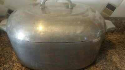 Vintage Wagner Ware Sidney -O- Magnalite 4265-P Dutch Oven Roaster w/Bottom Rack