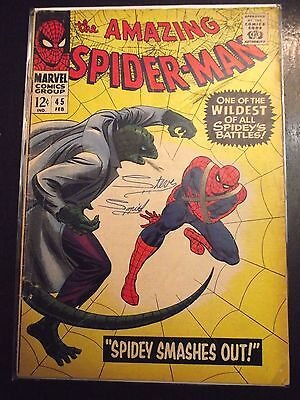 Amazing Spider-Man #45 (1967) 3rd app. The Lizard Silver Age GDVG