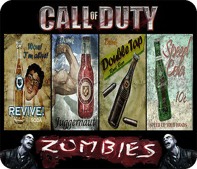 "Nazi Zombies - Perk Posters 1/4"" Large Mousepad"
