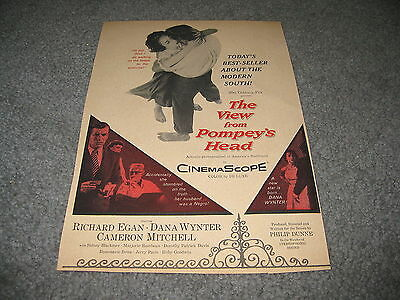 Vintage Movie ad - The view from Pompey's Head Richard Egan 1957