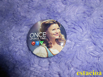 Once Upon a Time Promotional Button / Pin, Emilie de Ravin Belle, Fan Expo 2014