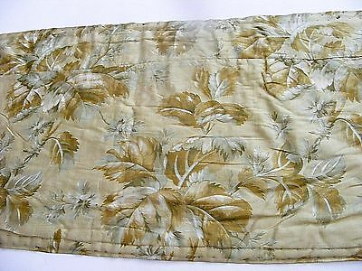 Exc! Antique Silk Floral Table Runner From Historic Home