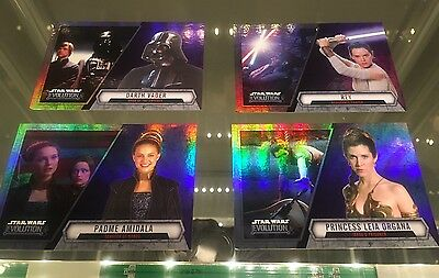 Topps Star Wars Evolution 2016 Purple Parallel Lot (4 Cards)