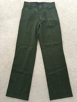 Aramid Flame Resistant Pants Green Size 32x34 New Condition! FREE SHIPPING