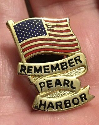Vintage Remember Pearl Harbor Lapel Pin. Enamel.
