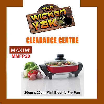 MAXIM Electric Mini Fry Pan 20cm x 20cm Non-stick Coating MMFP20-FREE SHIPPING