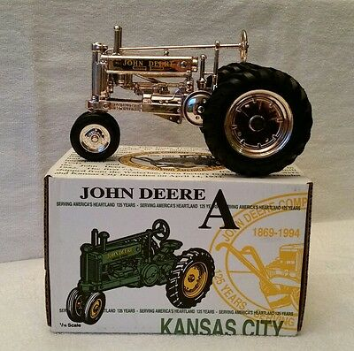 ERTL John Deere Model A Tractor 1/16 scale Gold Chrome Kansas City 125th Anniv.