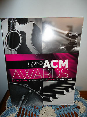 52nd ACM AWARDS 2017 MGM GRAND Las Vegas COLLECTIBLE ACADEMY COUNTRY MUSIC BOOK