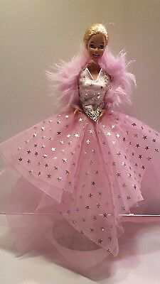 Barbie 1980s Doll Clothes Fashion Gown Dress SUPER STAR 1988 Pink