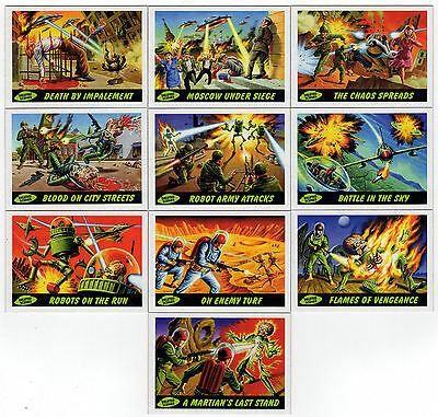 2012 Topps Heritage MARS ATTACKS 50th 60s Style 10 Card Deleted Scenes Chase Set