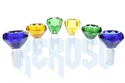 14MM And 18MM Male Yellow, Blue & Green Diamond Glass Bowl Top Quality Glass