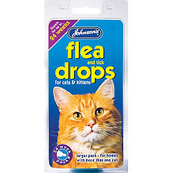 Johnsons Vet Cat Flea Drops 4 week