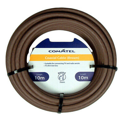 Commtel Coax Cable Brown 10m