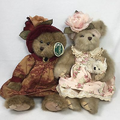 "Two 13"" Bearington Bears Collectible Series Fully Jointed"
