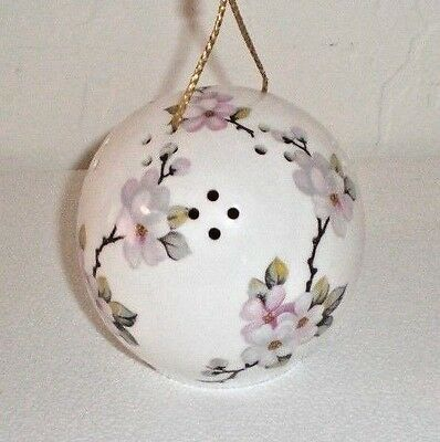 "Taylor of London Porcelain Pomander ""Apple Blossom"" Made in England FREE SHIP"