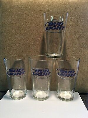 Bud Light  Pint Glasses Set Of 4. From Early 2000's