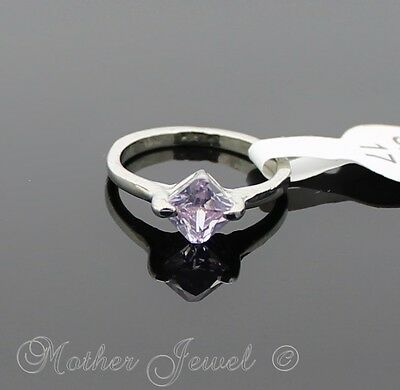 Exquisite Light Purple Cz Silver Sp Ladies Girls Cocktail Dress Ring Size 7 N