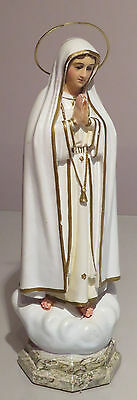 """""""Immaculate Virgin Mary Our Lady of Fatima"""" Religious statue - RARE antique"""
