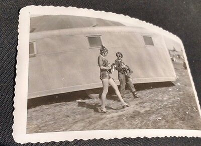 DOROTHY LAMOUR VTG Original Fan Photo Leggy Greatest Show on Earth Sarasota Fl