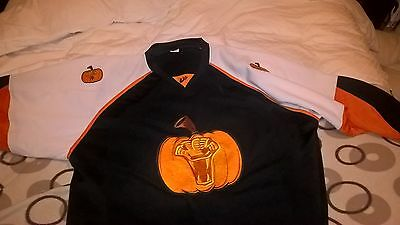 newcastle vipers game worn ice hockey jersey game worn Halloween special shirt
