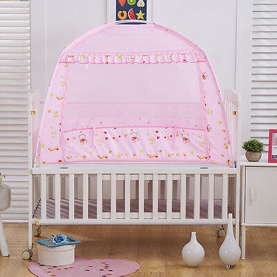 Kids Bed Cot Tent Canopy Mosquito Net Baby Crib Netting with Stand 110 x 70 cm
