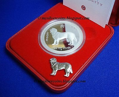 2006 Australia Perth Mint 1oz Lunar Dog Silver Proof Lunar Series 1 w/Box & COA