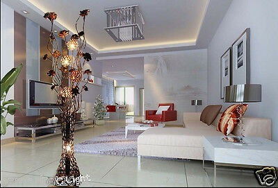 * Modern Style G4 Gold Height 140CM Decoration Crystal Living Room Floor Lamp