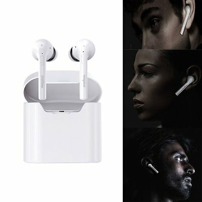 New Wireless Bluetooth Headphone Dual Inear Earbuds Headset for iPhone7 Airpods