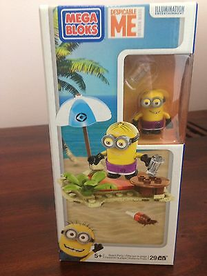 Mega Bloks Despicable Me - Beach Part Set - Minions NEW