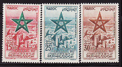 Morocco Sc #C1-3 Air Mail 1957 International Day MNH