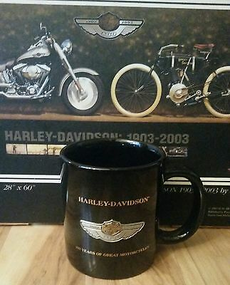 Harley Davidson 100th Anniversary Mug with medallion