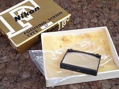 vtg Nikon D type FOCUSING SCREEN for F and F2