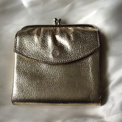 Vintage Prince Gardner Wallet, Gold Genuine Cowhide Trifold with Coin Purse USA