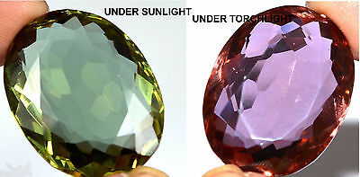 70.10Ct Certified Amazing Color Changing Alexandrite Attractive Loose Gems W1209