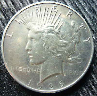 1926 United States USA Peace Dollar 90% Silver Coin