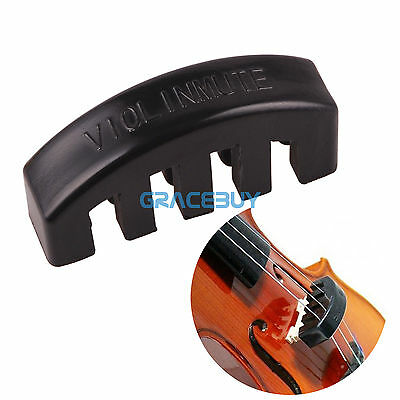 Heavy Rubber 1/2 3/4 4/4 Fiddle Violin Practice Mute Sound Lossless Slicencer